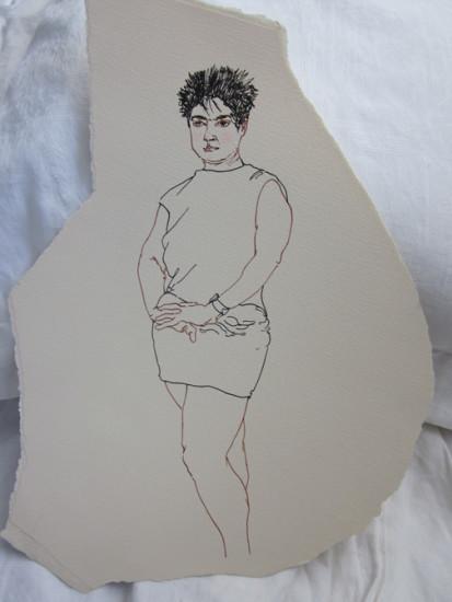 1988 Gema deguisee femme 12 x 10 Ink