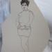 1988 Gema deguisee femme 12 x 10 Ink thumbnail