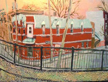 2007 St Henri 12 x 16 Acrylic