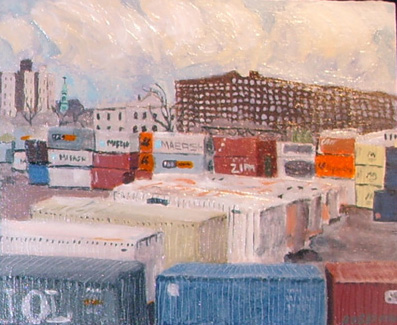 ROBERTON  Trainyard  Acrylic 10 x 12